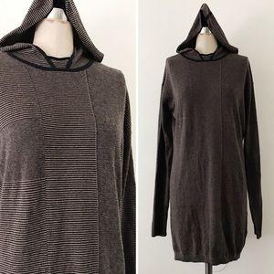 LAMB | Cotton + Cashmere Striped Longline Hoodie